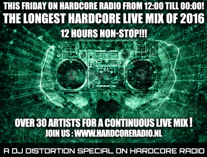 12 HOURS LIVE MIX BY 30 ARTISTS HARDCORERADIO