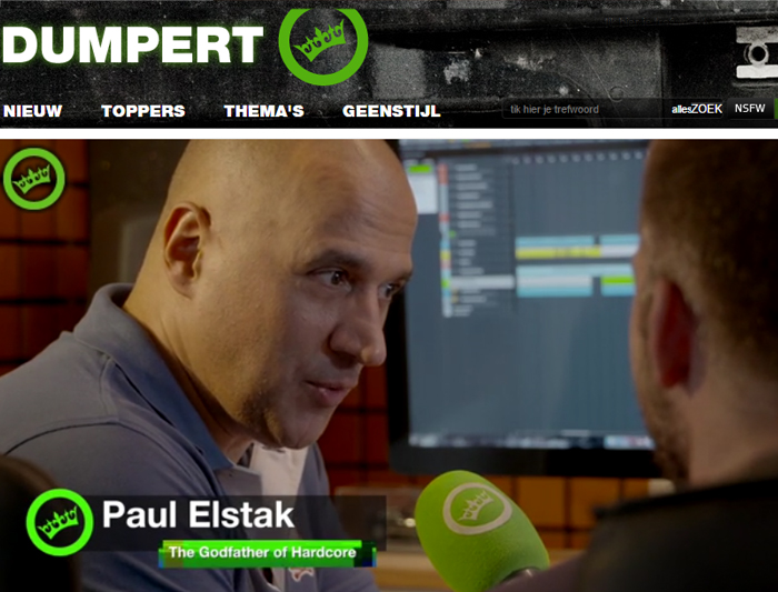 Paul Elstak filmed by Dumpert