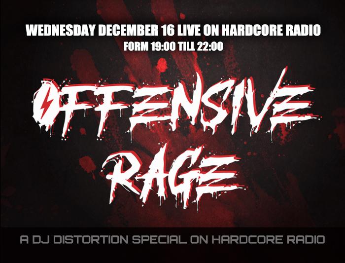 Distortion hosts live at Hardcore Radio
